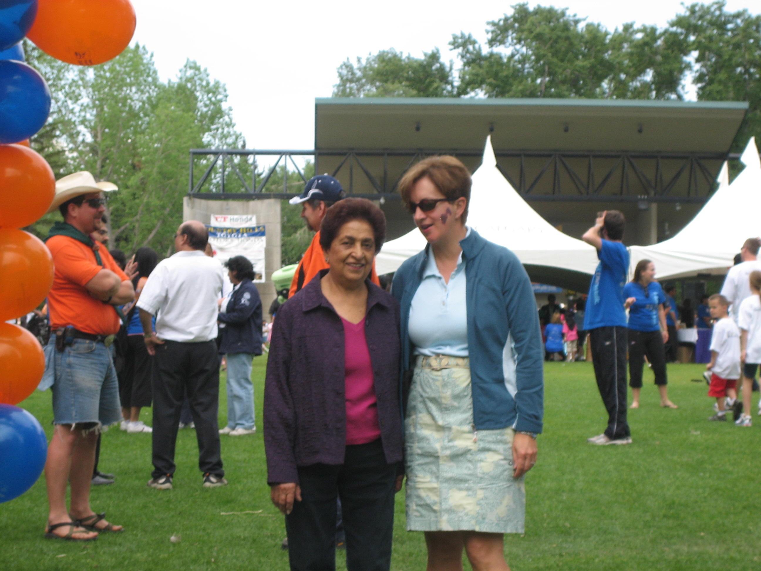 Noorbanu Nimji and Karen Anderson