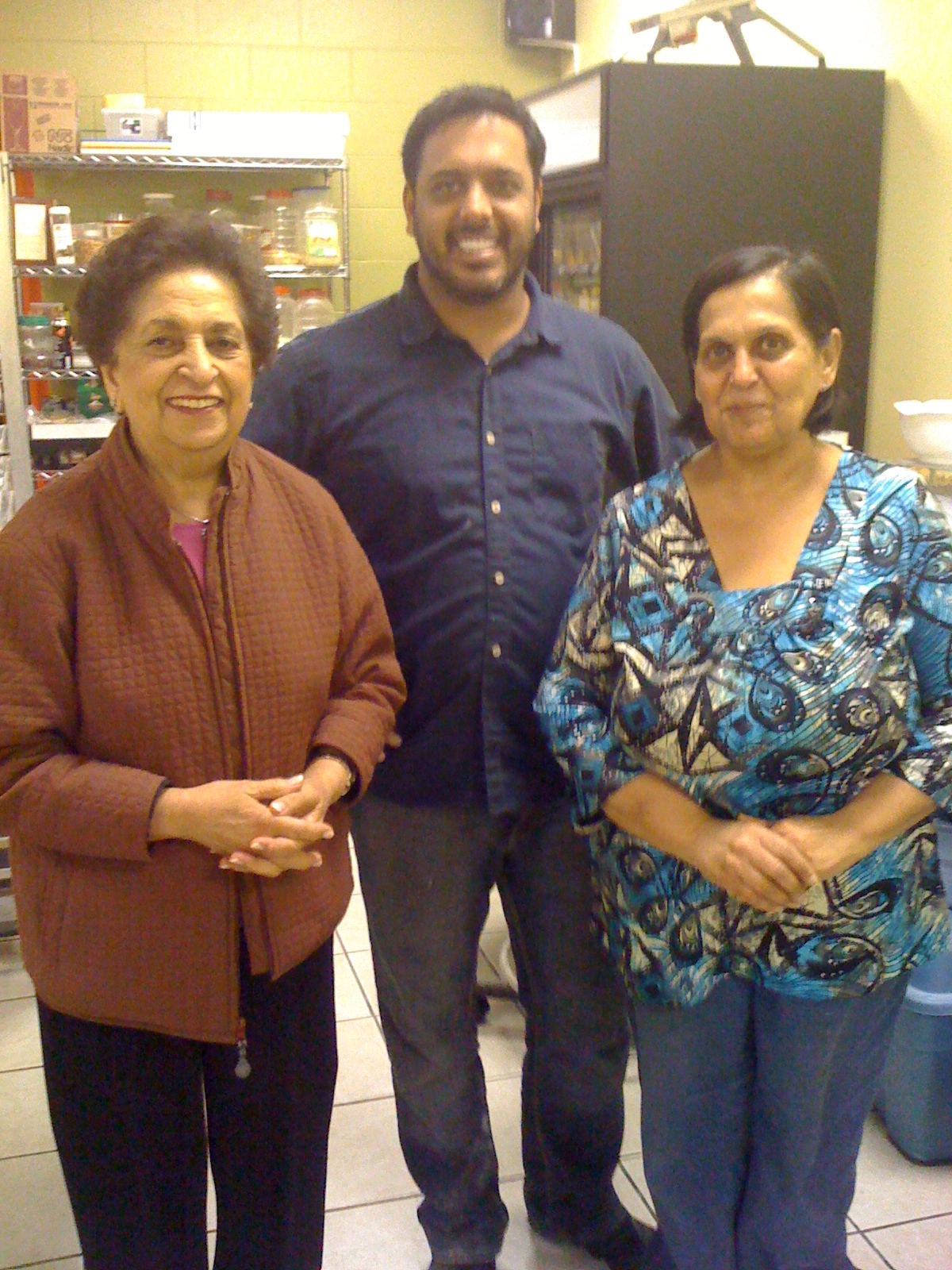 Noorbanu Nimji with Ruby and Rahim of Ruby's Kitchen