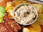 Caramelized and Green Onion Dip - side view