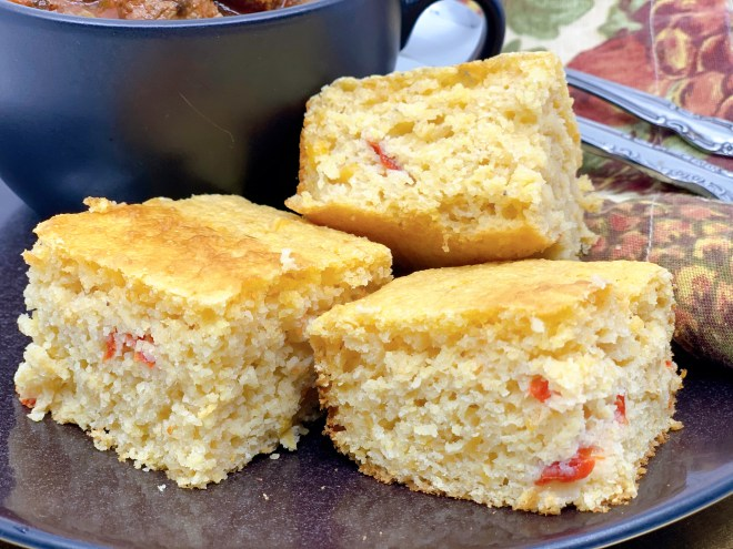 Banana Pepper Cornbread - side view