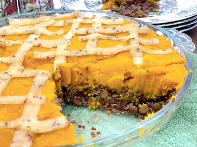 Vegan Quinoa Lentil and Squash Pie