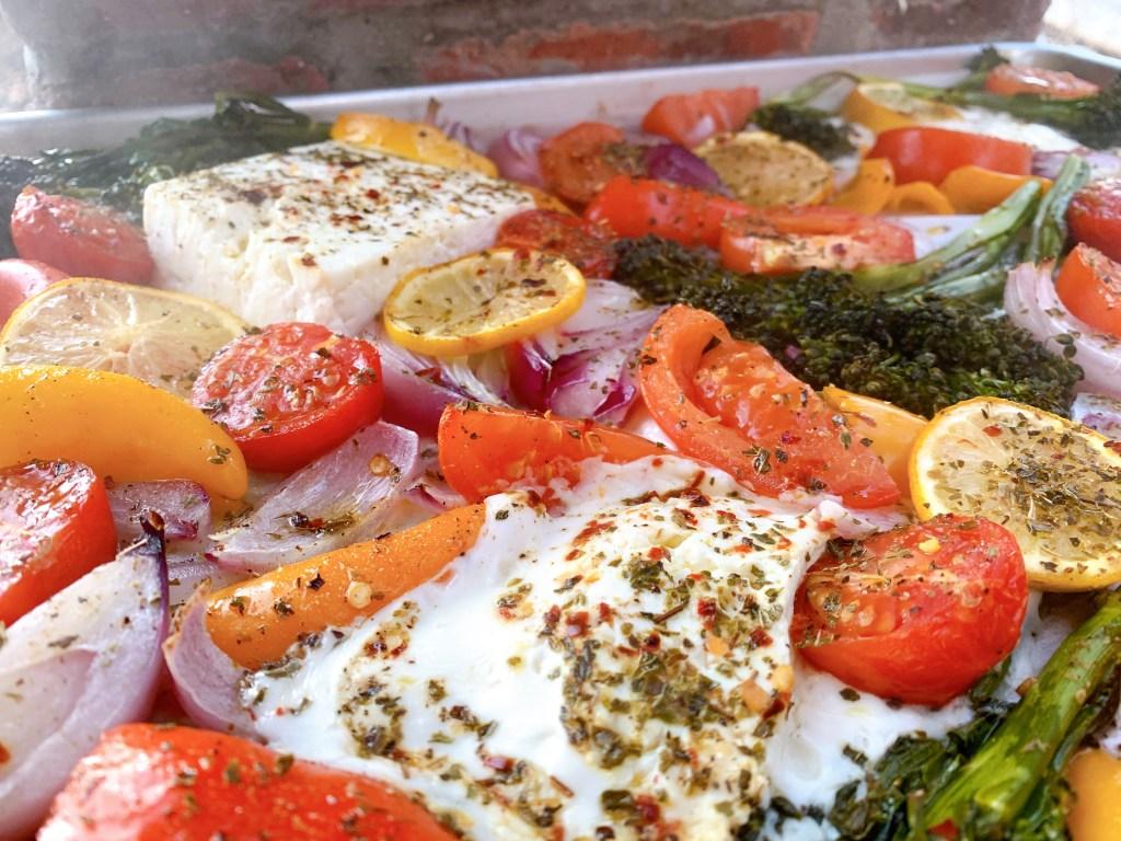 Pan Sheet Feta Feast - side view