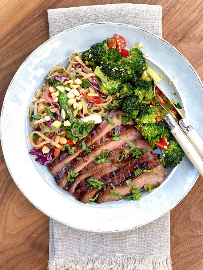 Sesame Flank Steak - close up photo