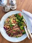Sesame Flank Steak - side view
