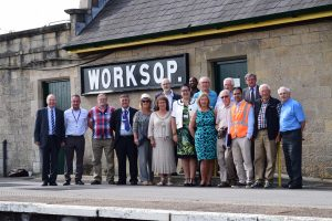 Newly refurbished Worksop Railway Station