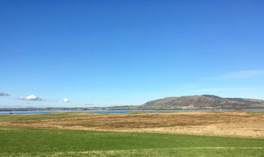 The baby-blue, endless sky ove loch Leven