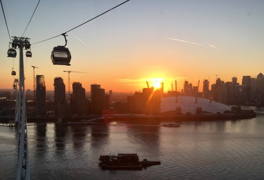 A ride in a cable car over the Thames