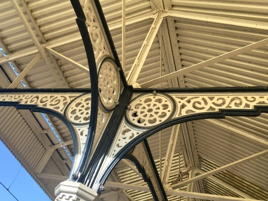 Retford Station canopy detail over Platform 1