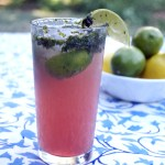 Orange Mint Hibiscus Mojitos