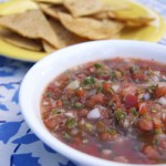 Tequila-Lime Salsa & Homemade Tortilla Chips