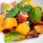 Heirloom Tomato Salad w/ Nectarine & Proscuitto