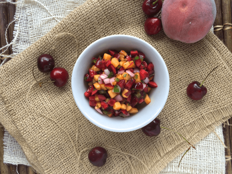 Stone Fruit Cherry Peach Salsa