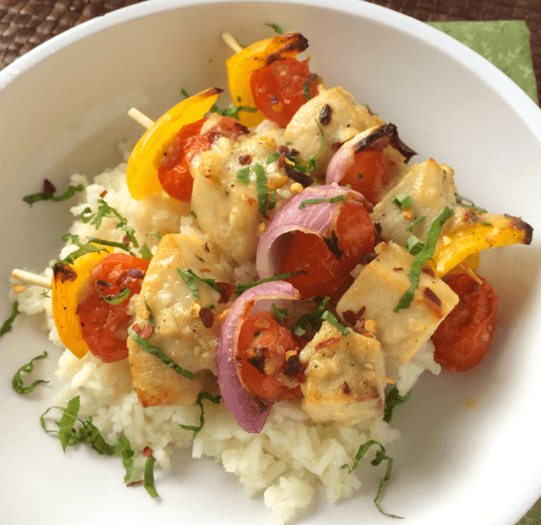 Lemon-Basil-Swordfish-Tomato-Skewer