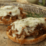 Balsamic Caramelized Onion & Pulled Pork Open-Faced Sandos