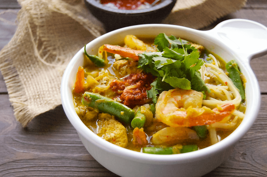 Chicken Shrimp Curry Laska