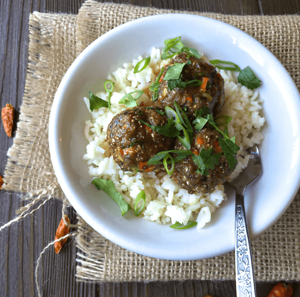 Coconut Ginger Thai Meatballs