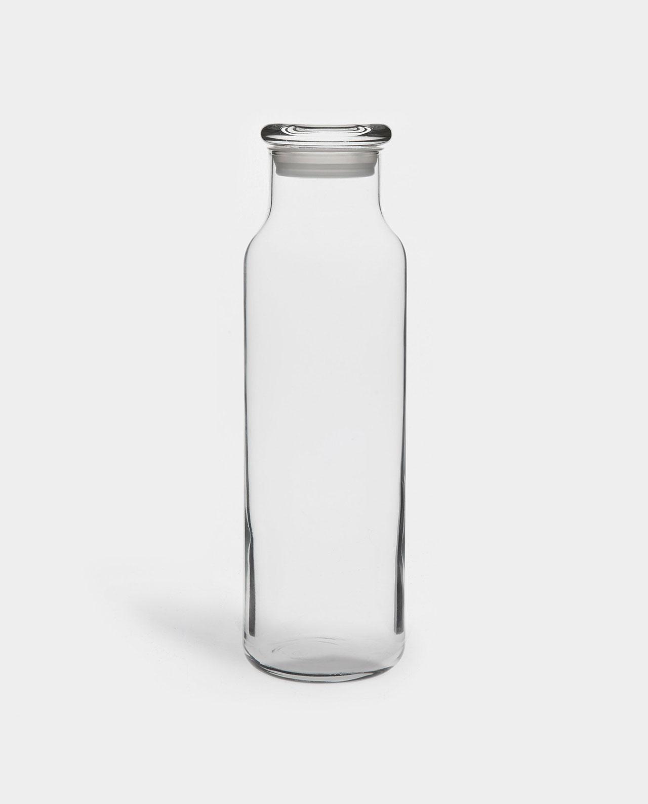 plain glass bottle