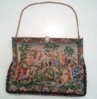 Antique tapestry handbag