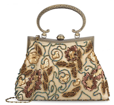 Vintage sequined beaded evening bag