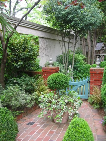 courtyard garden with gate