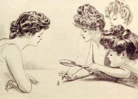 """Gibson's illustration """"The Weaker Sex"""""""