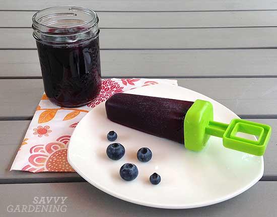 Iced Blueberry Green Tea popsicles