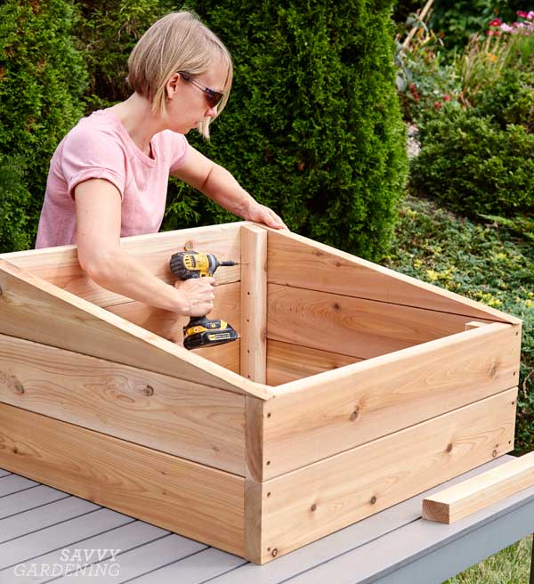DIY cold frame: Step 4