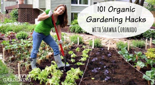 Get clever DIY organic gardening hacks from Shawna Coronado