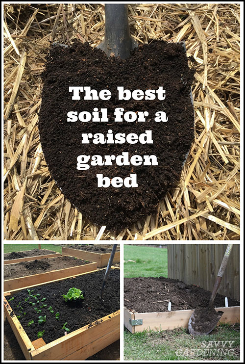 whatto put in a raised garden bed for soil