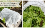 Use row cover hoops to protect vegetables from pests and frost