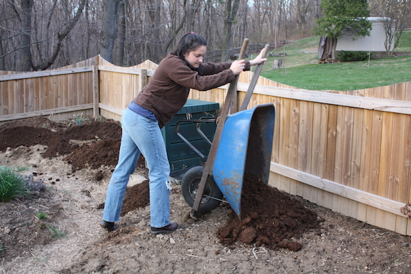 Adding compost to the garden improves the health of the soil, but sometimes extra fertilizer is needed.