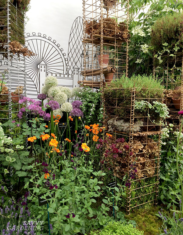 one of John Cullen's pollinator palaces at the RHS Chelsea Flower Show.