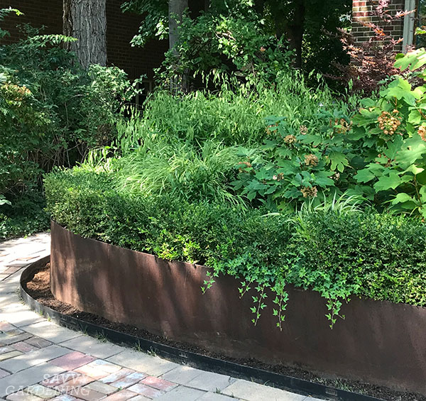 Steel landscape borders add a modern, classy touch to a garden.