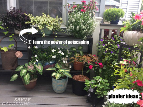 an example of potscaping