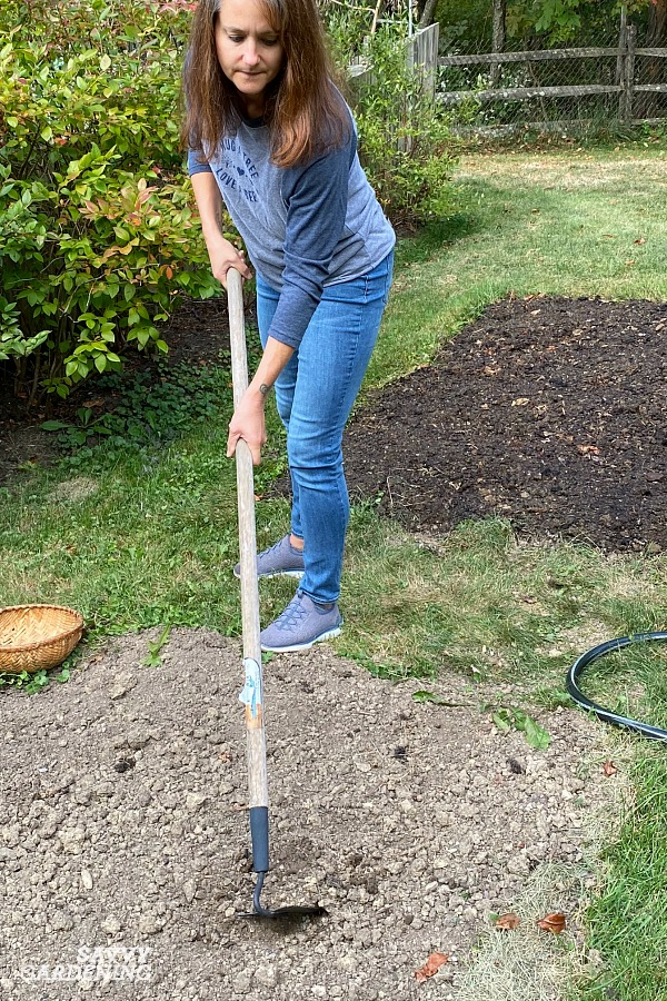 Preparing the soil for planting a new lawn
