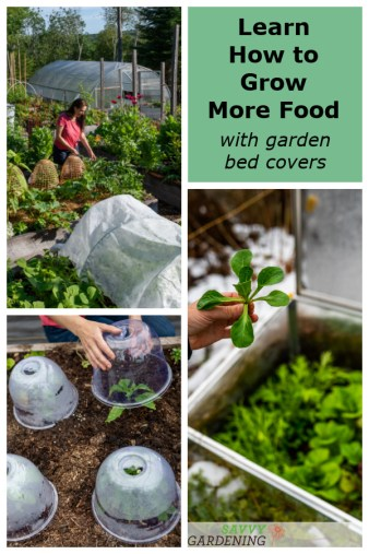Using garden bed covers like row covers and mini hoop tunnels is an easy way to increase production