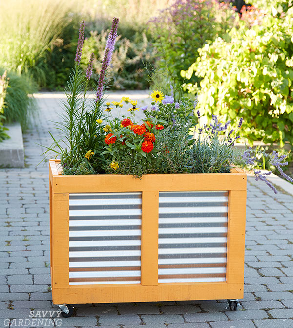 corrugated steel panel raised bed