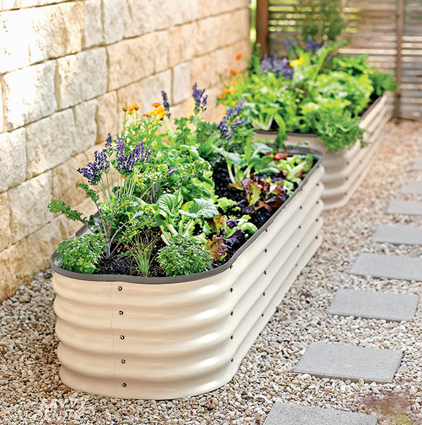 modular galvanized raised beds