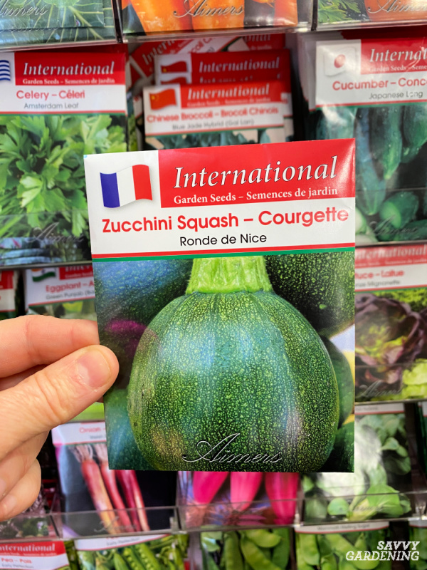 Ronde de Nice summer squash seed packet