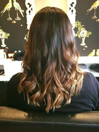 Ombre curls