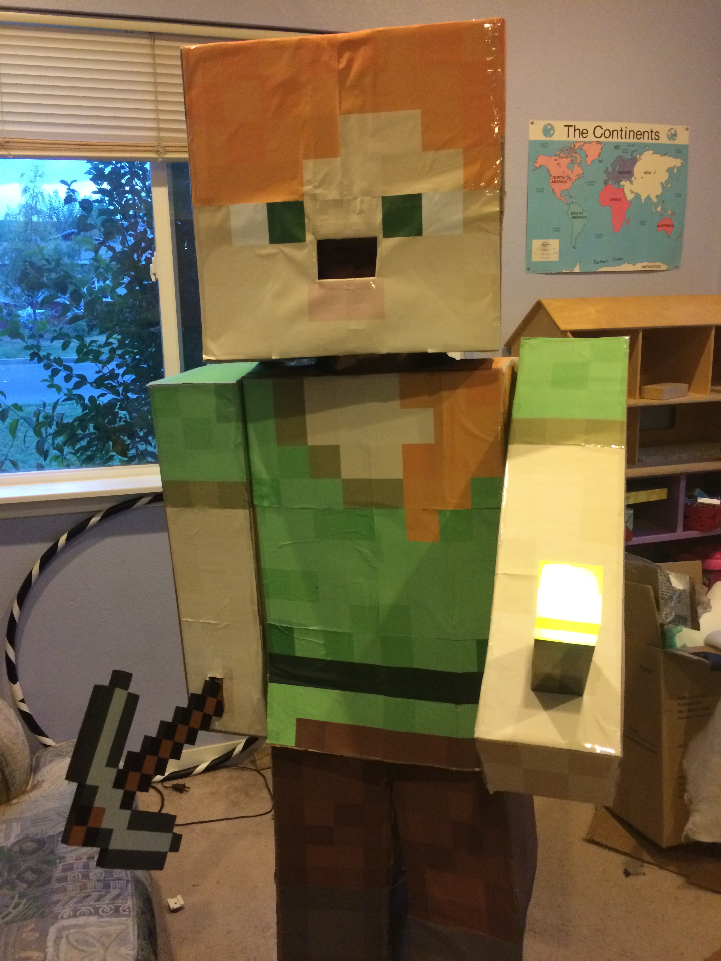 Maeven's completed Minecraft costume