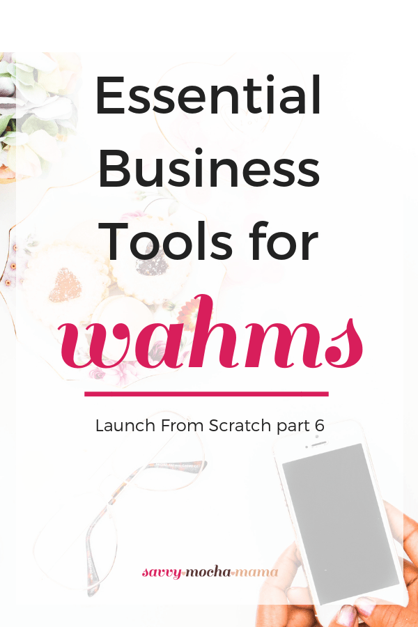 Don't let tech woes throw a wrench into your work at home dreams. In this installment of the Launch From Scratch series, I'm sharing the essential tools you need to make your home business a success! #wahm #entrepreneurship #freelancing #makemoneyathome #systems #workflows