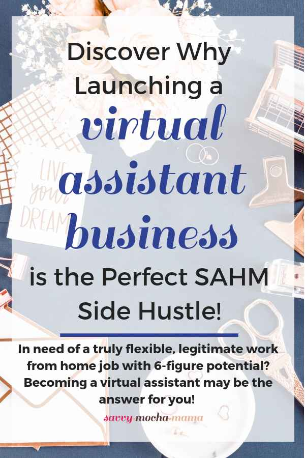 If you're sick of plugging away at surveys and micro tasks, it's time to launch a real business (not that MLM your cousin's neighbor's best friend keeps pestering you to join!)   As a virtual assistant, YOU make the rules. Discover how to earn $25+/hour from day ONE and scale your efforts into the business you've been longing to create (no babysitter required!) #virtualassistant #sidehustle #sahm #wahm #workfromhome #workathome #entrepreneurship #business #freelance #pinterestva