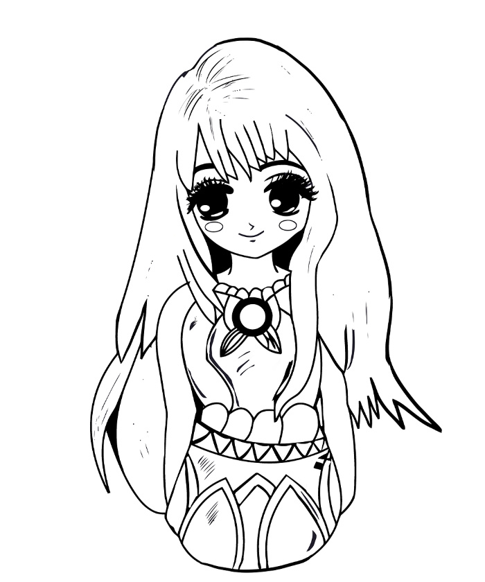 Free Adult Coloring Printables: Simple Girl Coloring Page