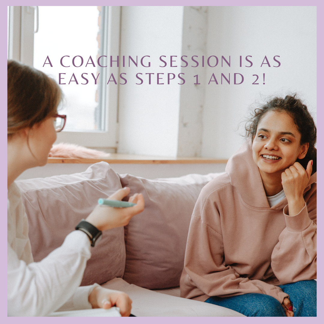 A Coaching Session is as Easy as Steps 1 and 2!