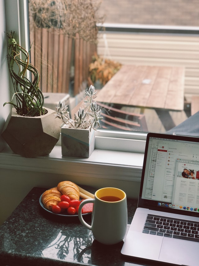 work at home set up