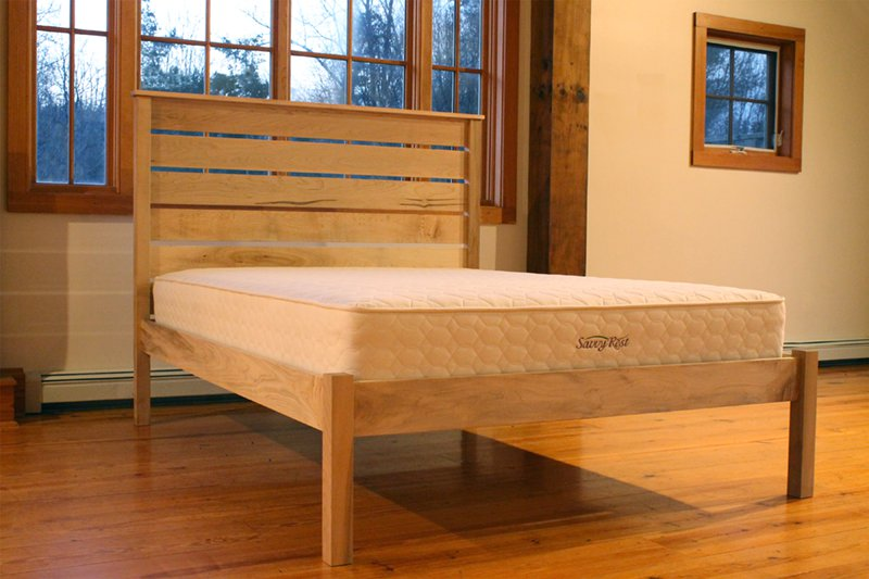 Natural Platform Bed With Headboard  The Esmont  Savvy Rest