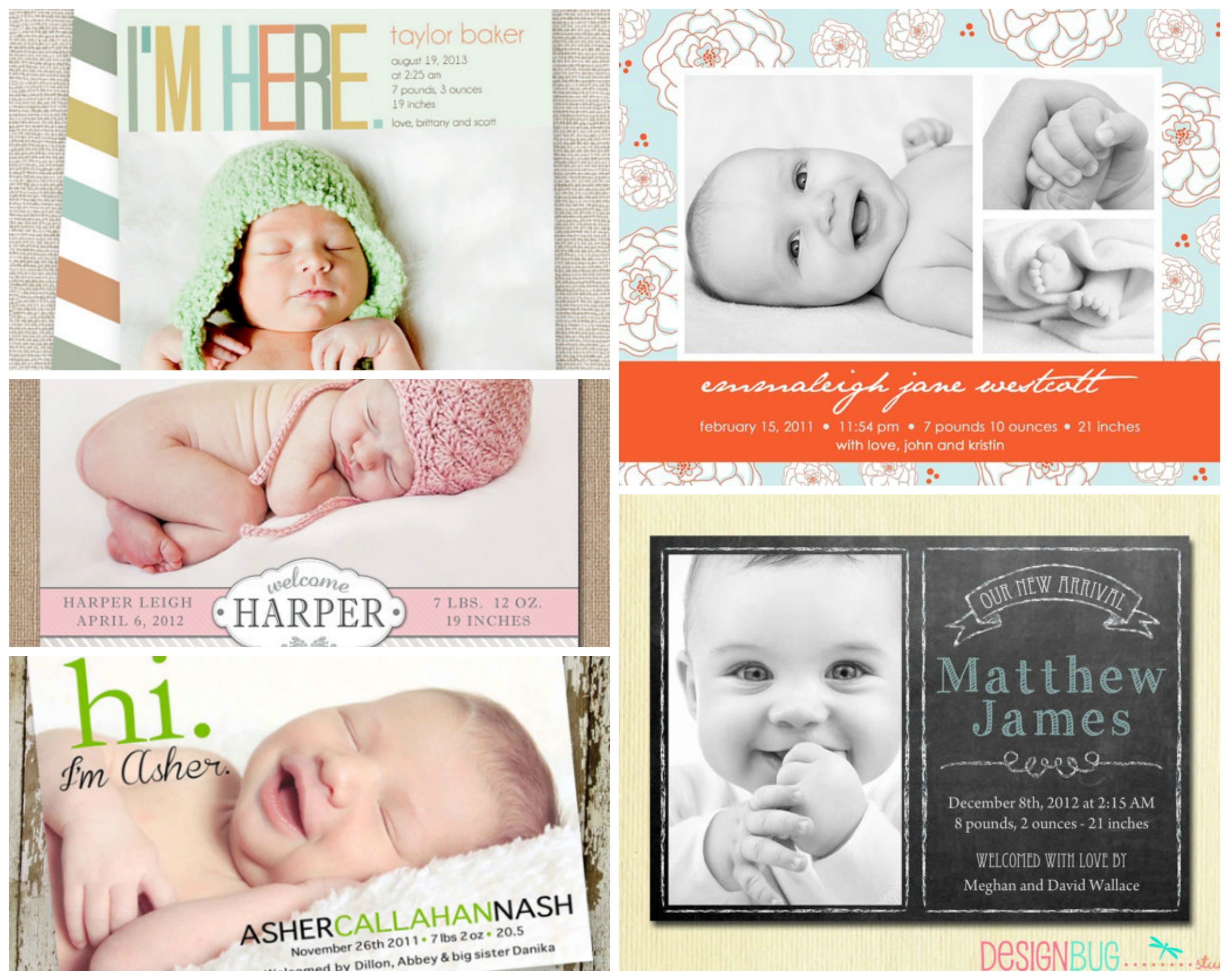 birth announcements from etsy