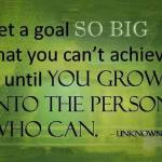 Big Goals are Scary Because…