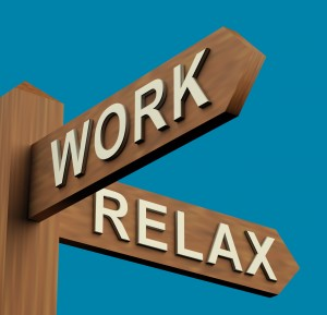 Work Or Relax Directions On A Signpost